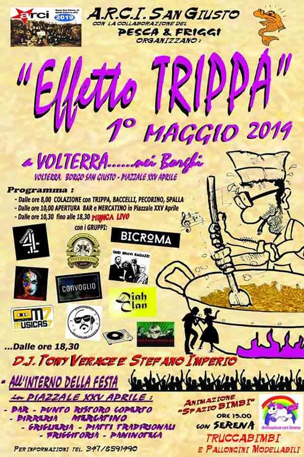 Effetto Trippa 2019 a Volterra - Borgo San Giusto - Manifesto