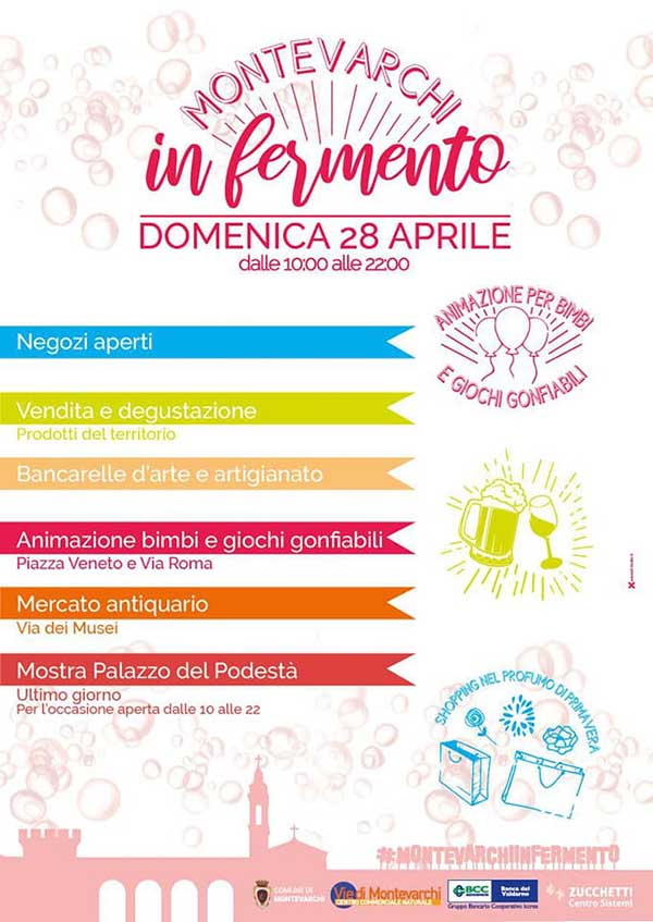 Manifesto Montevarchi Infermeto 2019 - Domenica 28 Aprile Centro Storico di Montevarchi
