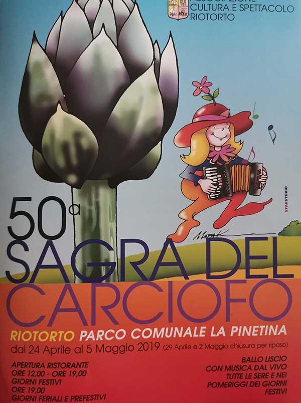 Sagra del Carciofo 2019 a Riotorto Piobino - Manifesto