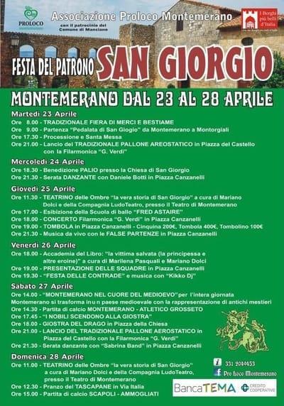 Programma festa Montemerano