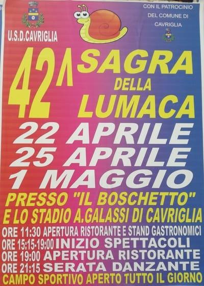 Sagra Lumaca Cavriglia 2019