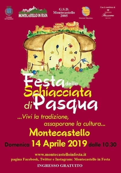 Schiacciata Pasqua Montecastello 2019