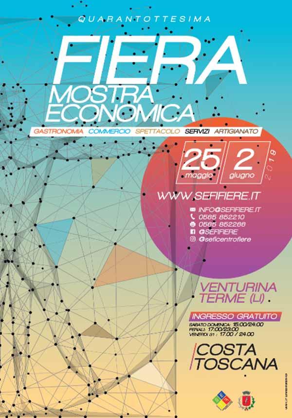 48° Fiera di Venturina 2019 - Mostra Economica - Manifesto
