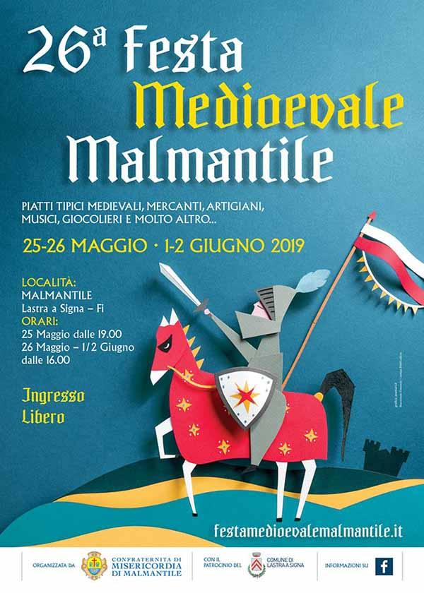 Festa Medievale Malmantile 2019 a Lastra a Signa - 26° Edizione - Manifesto