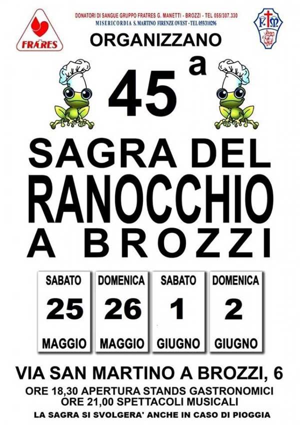 Sagra del Ranocchio a Brozzi Edizione 2019 - Manifesto
