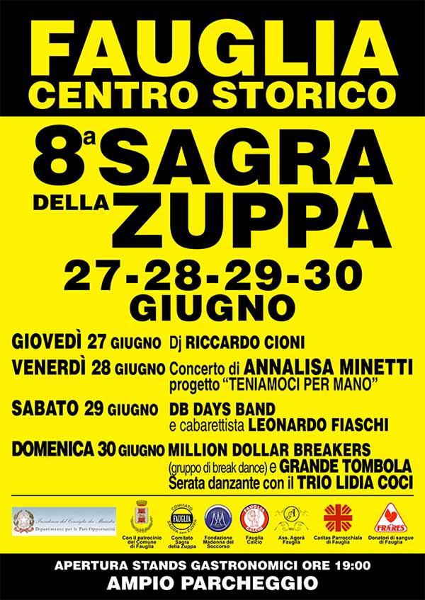 Sagra della Zuppa a Fauglia Edizione 2019 - Manifesto