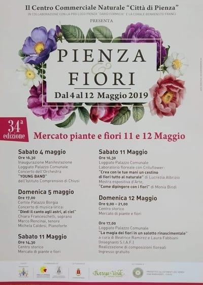Pienza Fiori 2019 Locandina