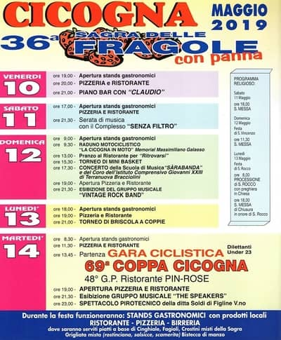 Sagra Cicogna 2019