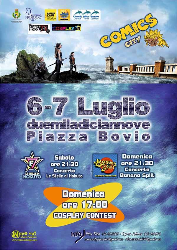 Comics City 2019 Piombino - 6 e 7 Luglio Piazza Bovio