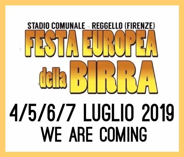 Festa della Birra 2019 a Reggello - Stadio Comunale 4-5-6-7 Luglio