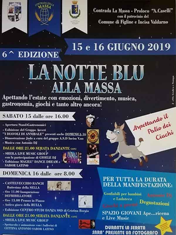 La Notte Blu alla Massa - Notte Bianca Incisa Valdarno 2019