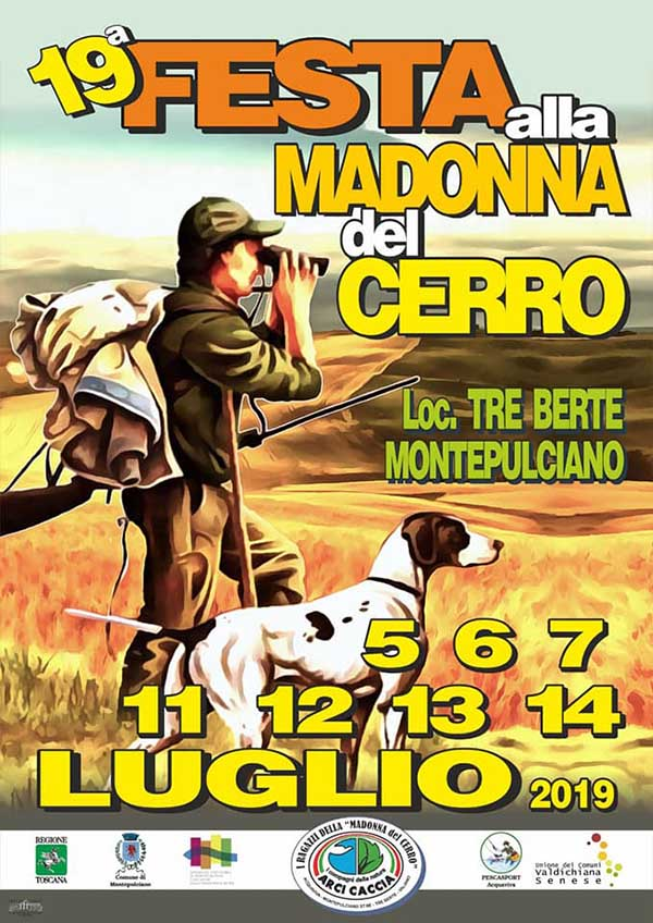 Locandina Festa alla Madonna del Cerro 2019 - Montepulciano Siena