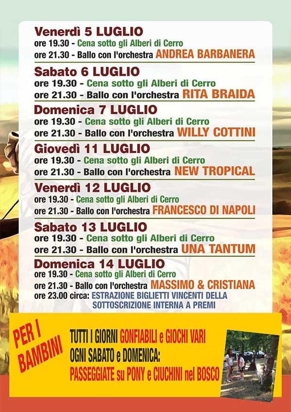 Programma Festa alla Madonna del Cerro 2019 - Montepulciano Siena
