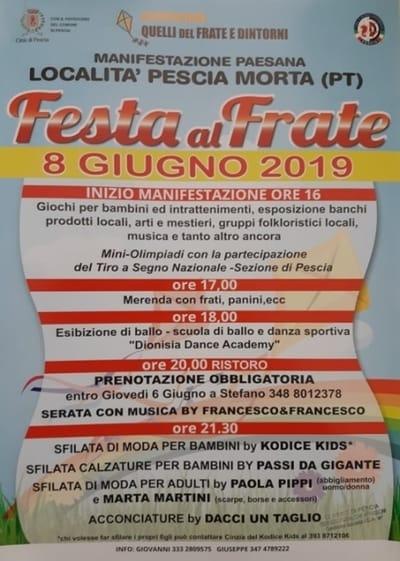 Festa Frate 2019 Pescia
