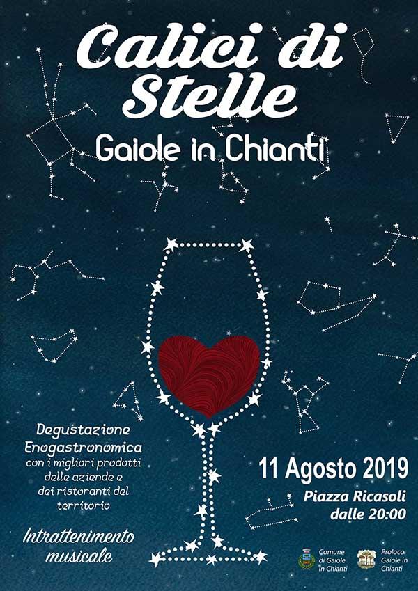 Locandina Calici di Stelle 2019 a Gaiole in Chianti - Domenica 11 Agosto