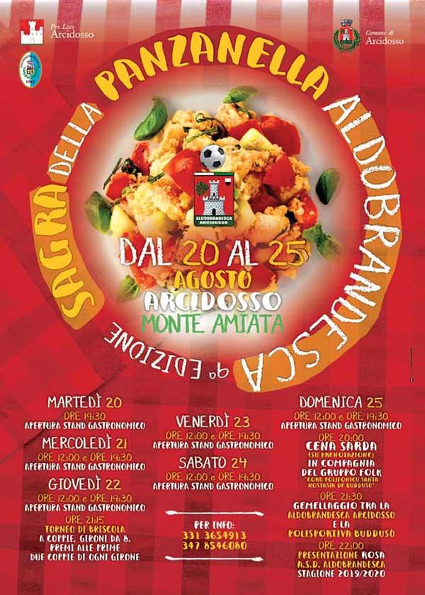 Programma Sagra della Panzanella ad Arcidosso - Agosto 2019