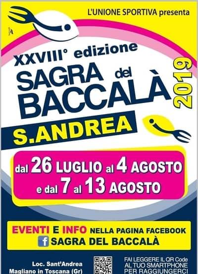 Baccala Sant Andrea 2019