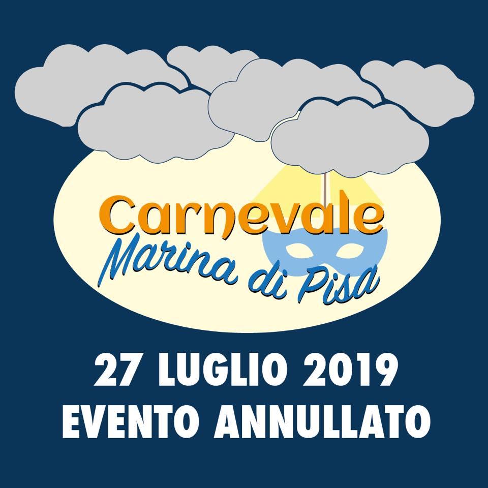 Carnevale Estivo Marina di Pisa annullato