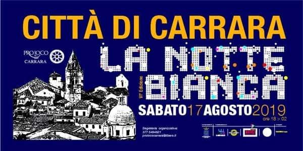Notte Bianca Carrara 2019