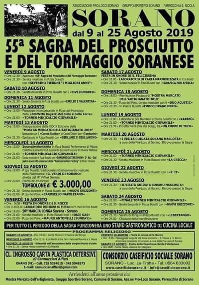 Sagra Prosciutto Soranese 2019