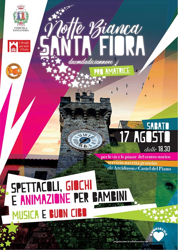 Manifesto Notte Bianca a Santa Fiora 2019 - 17 Agosto