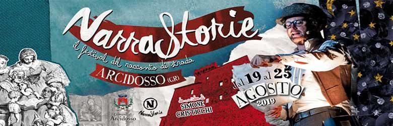 Narrastorie il Festival del Racconto di Strada ad Arcidosso 2019 - Direzione Simone Cristicchi