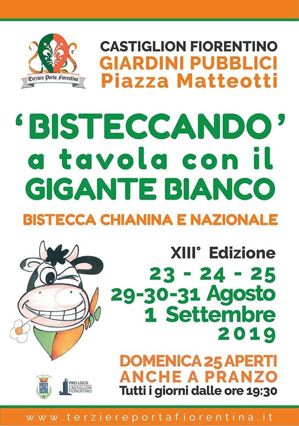 Volantino Bisteccando a A Tavola con il Gigante Bianco 2019 - Castiglion Fiorentino Arezzo