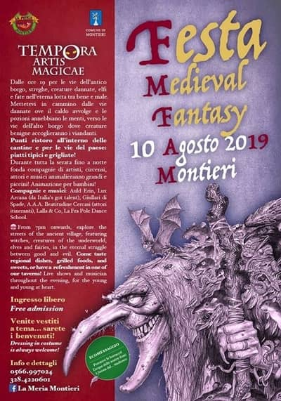 Festa Medievale Montieri 2019