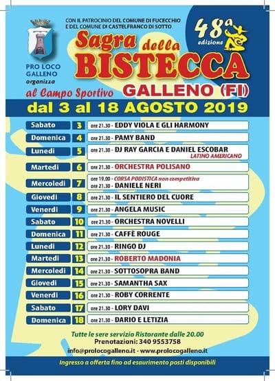 Sagra Bistecca Galleno 2019