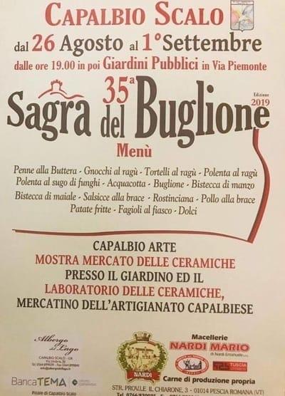 Sagra Buglione Capalbio 2019