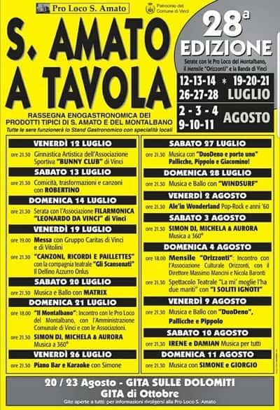Sant Amato Tavola 2019