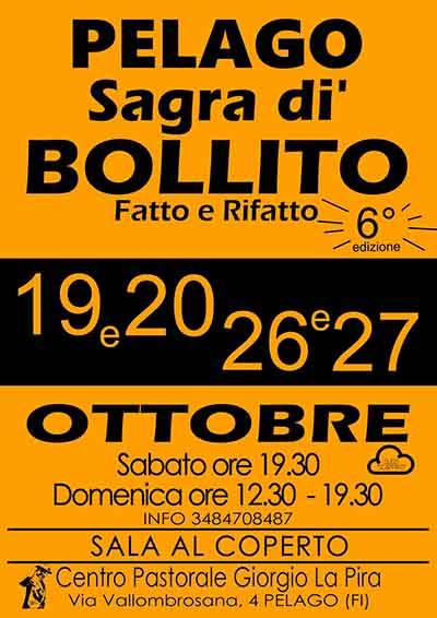 Locandina Sagra di Bollito a Pelago 2019 - 6° Edizione