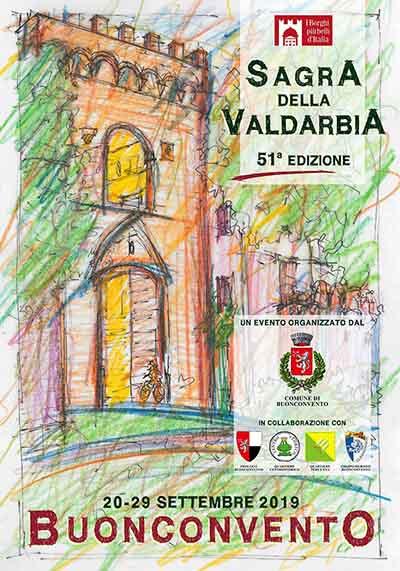 Manifesto Sagra della Valdarbia 2019 a Buonconvento - 51° Edizione