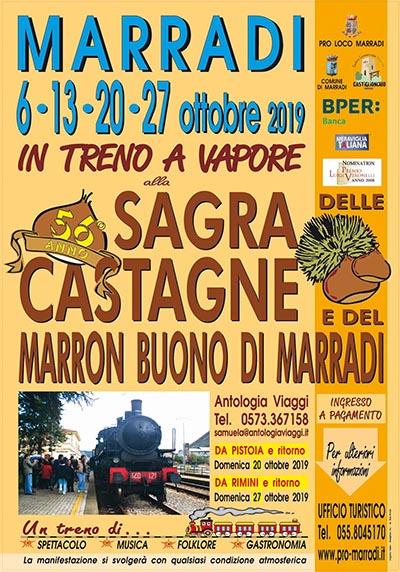 Manifesto Sagra delle Castagne e del Marron Buono di Marradi 2019
