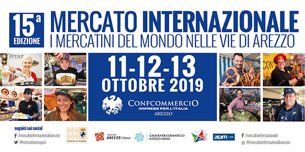 Mercato Internazionale 2019 Arezzo - I Mercatini del Mondo nelle vie di Arezzo