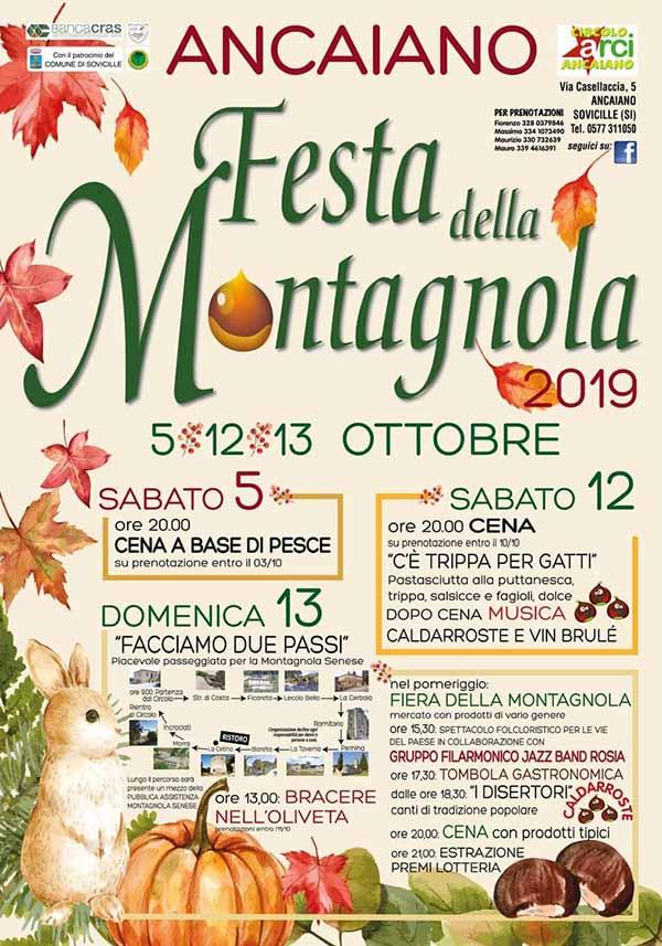Programma Festa della Montagnola 2019 Ancaiano Sovicille
