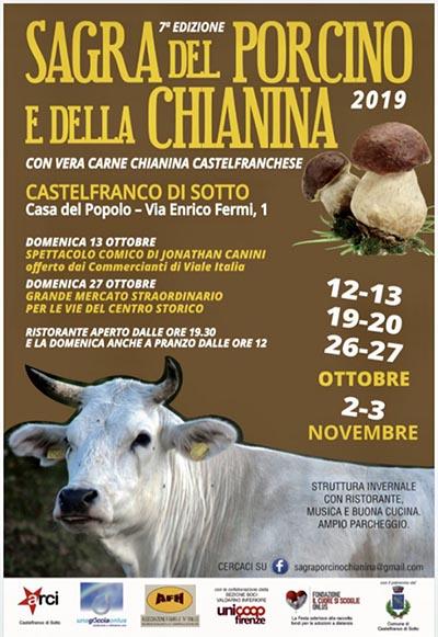 Programma Sagra del Porcino e della Chianina 2019 a Castelfranco di Sotto