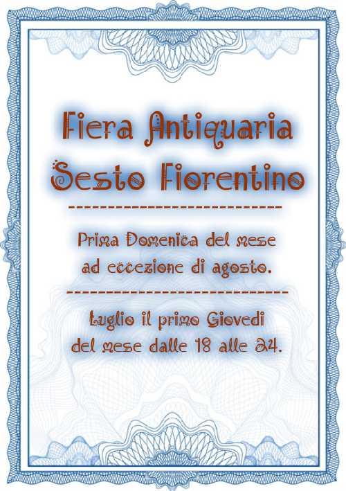 Fiera Antiquaria Sesto Fiorentino