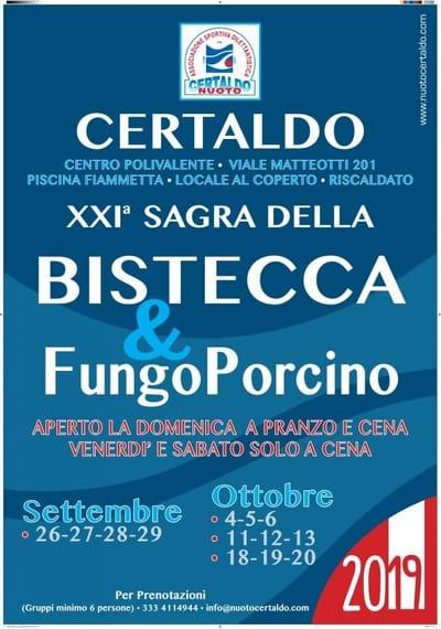 Sagra Bistecca Funghi Certaldo 2019