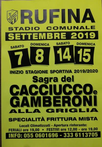 Sagra Cacciucco Rufina Settembre 2019