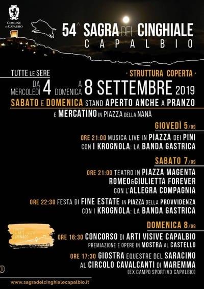 Sagra Cinghiale Capalbio 2019