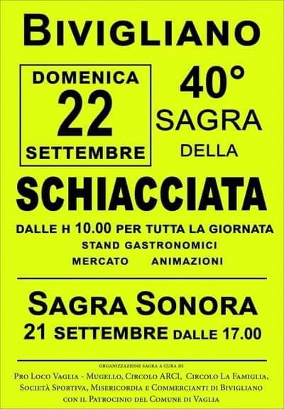 Sagra Schiacciata Bivigliano 2019