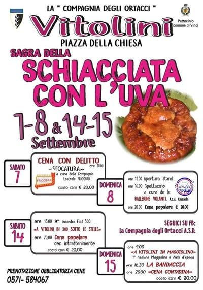 Sagra Schiacciata Uva Vitolini 2019