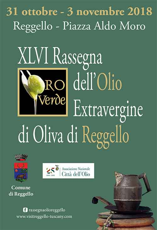 Manifesto 46° Rassegna dell'Olio Extravergine di Oliva di Reggello - Edizione 2019