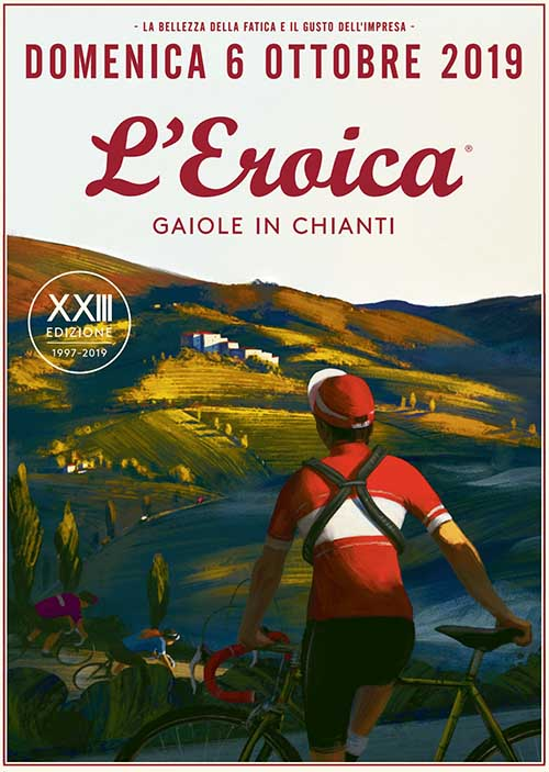 Manifesto Eroica 2019 a Gaiole in Chianti