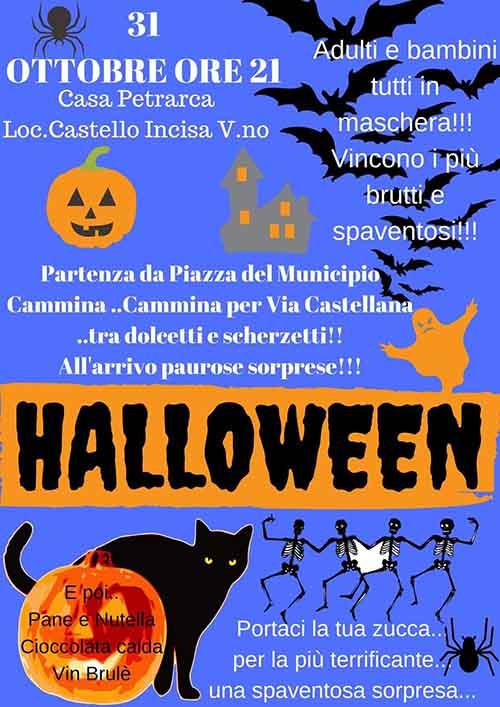 Manifesto Festa di Halloween ad Incisa Valdarno 31 Ottobre 2019
