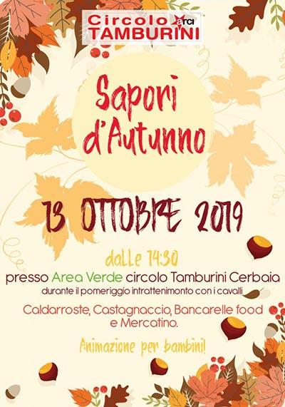 Manifesto Sapori d'Autunno 2019 a Cerbaia Lamporecchio