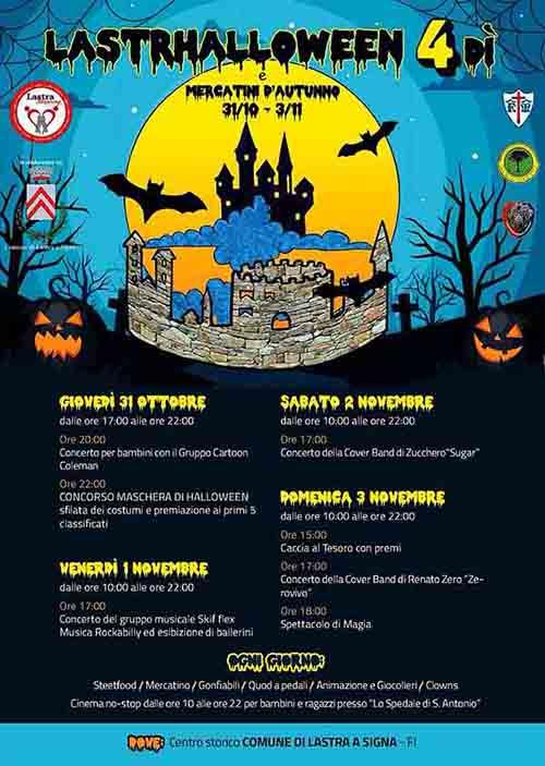 Manifesto del Programma Halloween a Lastra a Signa 2019 - LastrHalloween nel centro storico