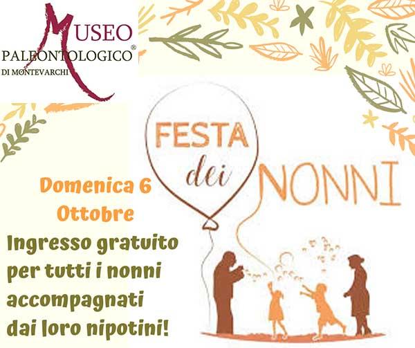 Museo Paleontologico di Montevarchi Festa dei Nonni 2019 - Domenica 6 Ottobre 2019