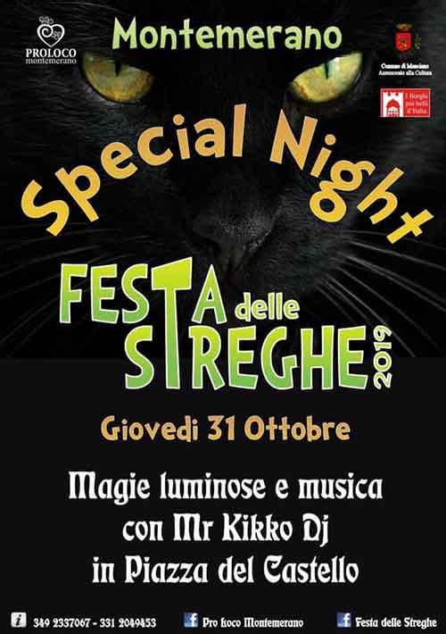 Programma Feste delle Streghe 2019 a Montemerano Manciano 31 Ottobre - 10° Edizione Festa di Halloween